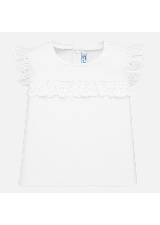 Tričko s volánkem, White