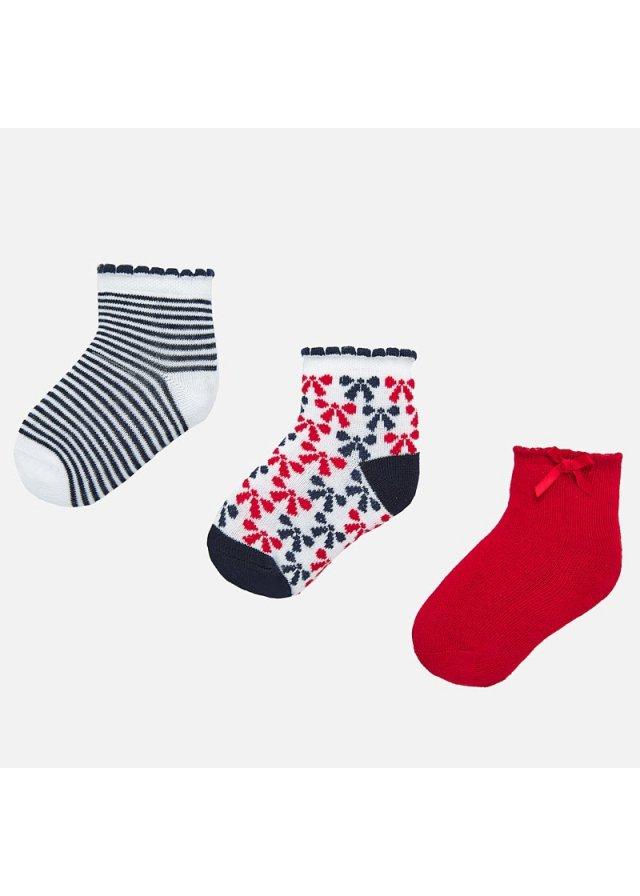 Ponožky set 3 páry, Red