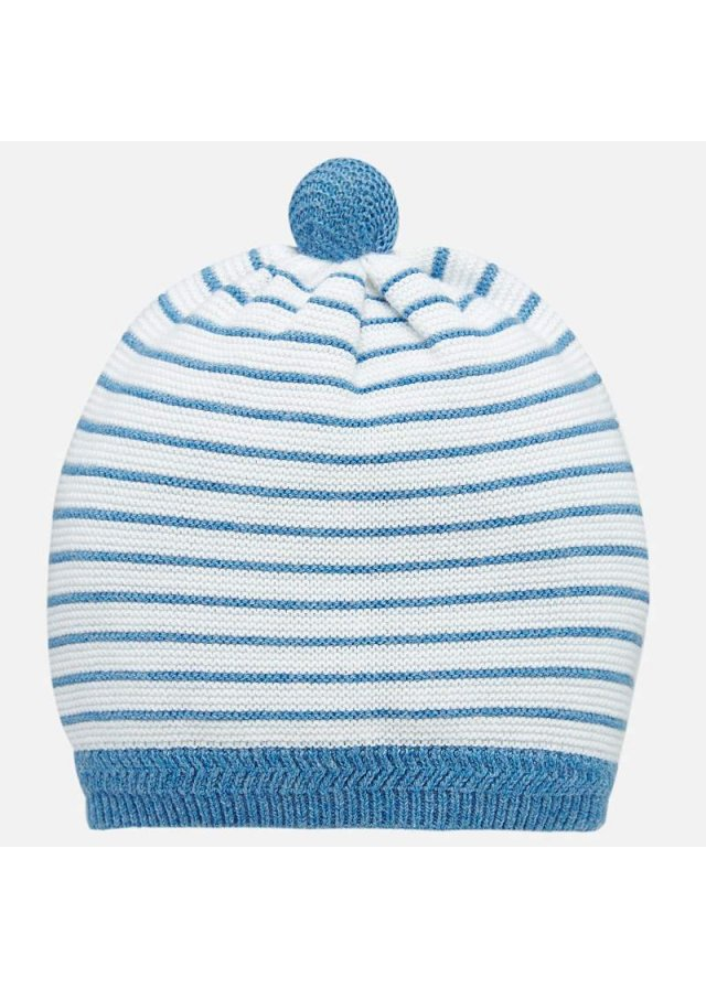 Lehká pletená čepička, French Blu