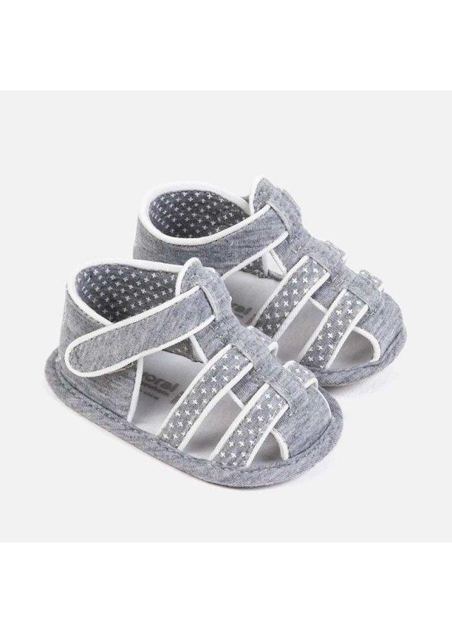 Látkové sandálky, Gray