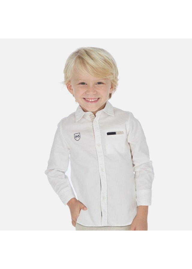 Košile s dlouhým rukávem, White