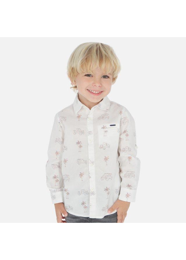 Vzorovaná košile s dlouhým rukávem