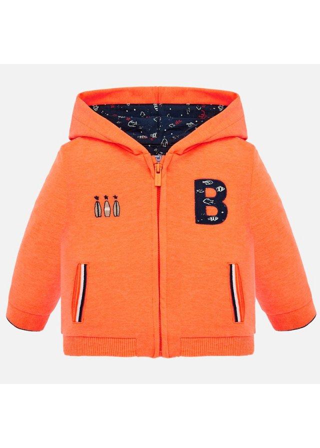 Mikina na zip s kapucí, Orange