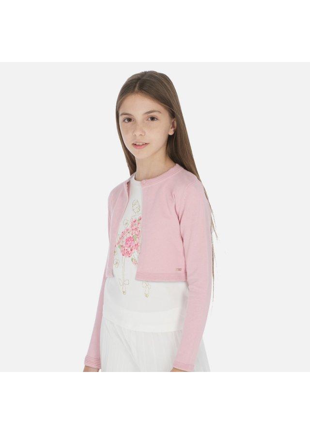Pletený kardigan, Pink