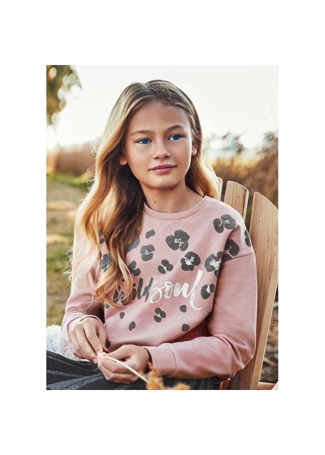 Mikina na zip s kapucí, Flamingo f