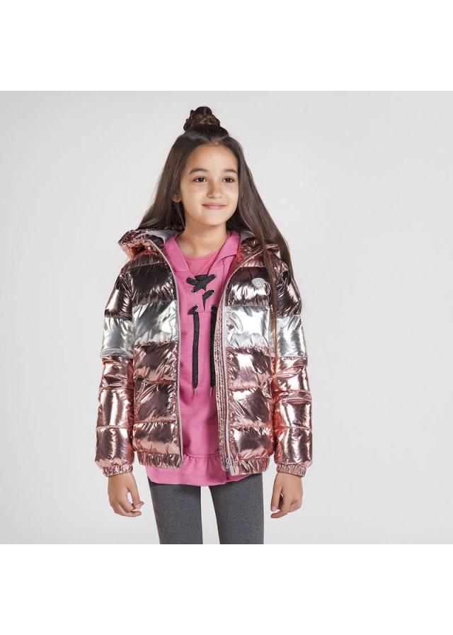 Metalická zimní bunda, Blush