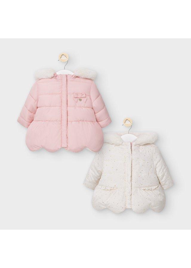 Oboustranný zimní kabátek, Blush