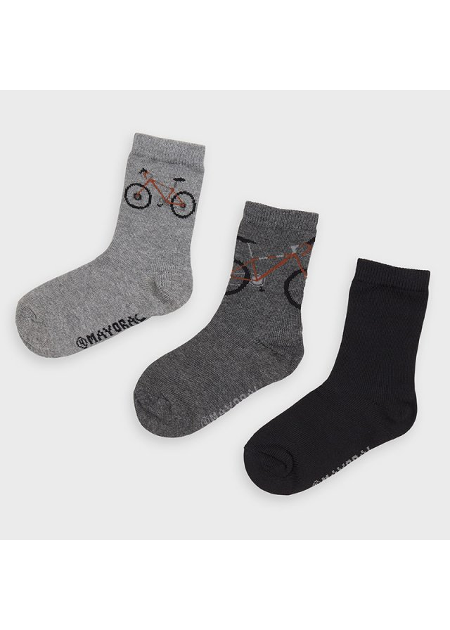 Ponožky set 3 kusy, Coal