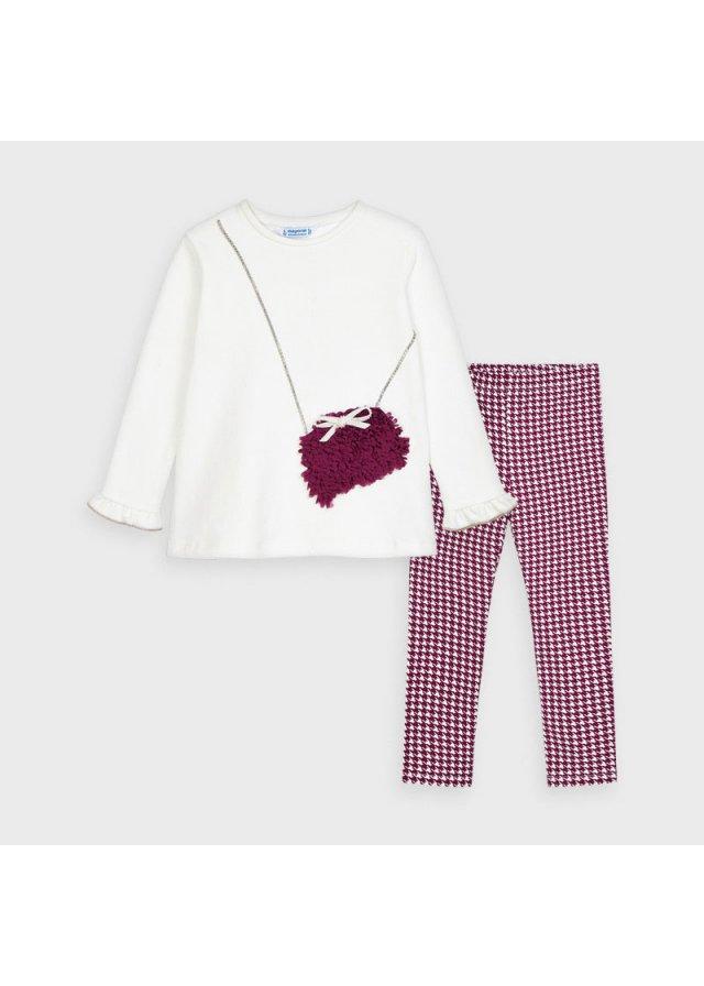 Set tričko a legíny, Cherry