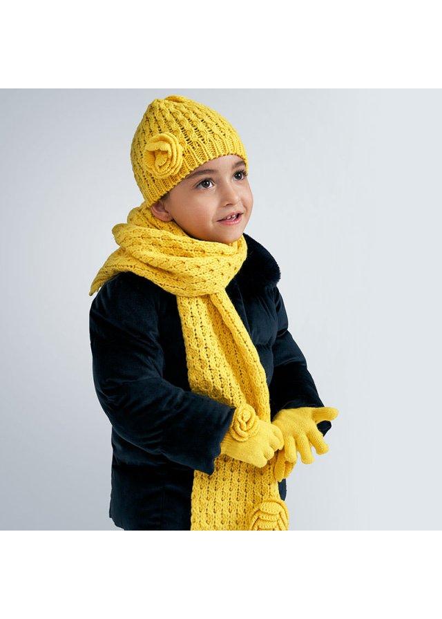 Set čepice, rukavice, šála, Yellow