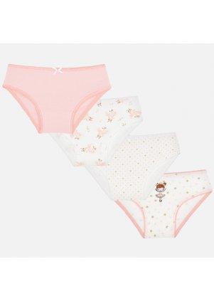 Kalhotky set 4 kusy, Peach