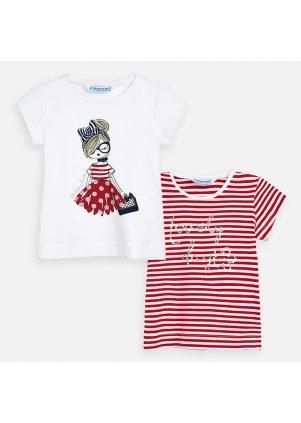 Tričko s krátkým rukávem set 2 kusy, Red