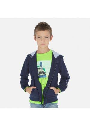 Mikina s palmami na zip s kapucí, blue