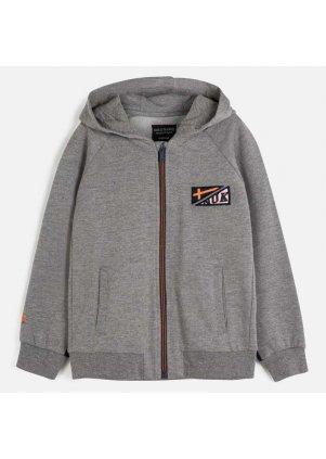 Mikina na zip s kapucí, Brg Cement