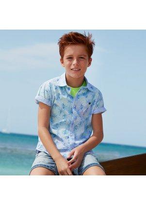 Vzorovaná košile s krátkým rukávem, Palms