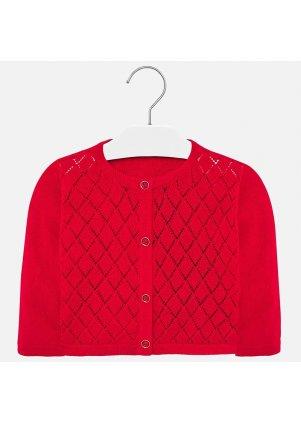 Pletený kardigan se vzorem, Red