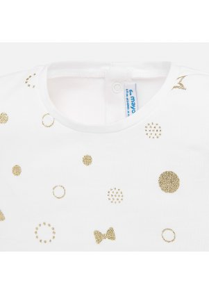 Puntíkaté tričko s třpitkami