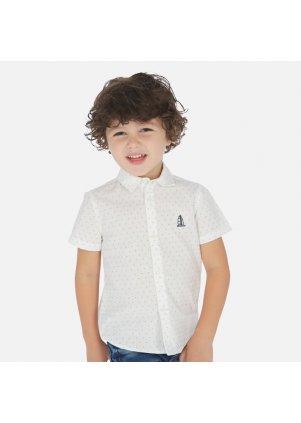 Košile s krátkým rukávem, White