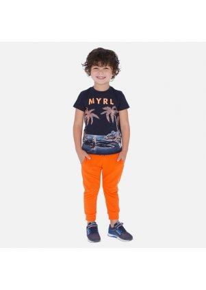 Jednobarevné tepláky joggers, Carrot
