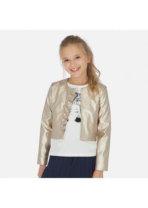 Koženková bunda s volánkem, Golden
