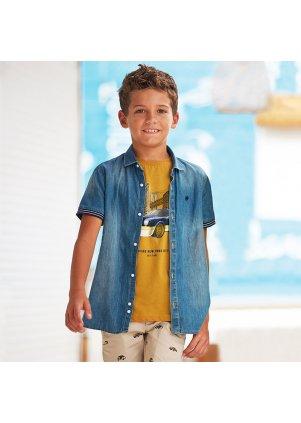 Džínová košile s dlouhým rukávem, Denim
