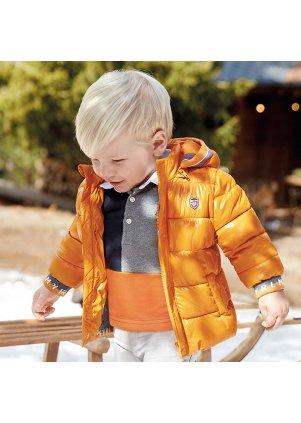 Prošívaný kabátek s odepínací kapucí, Cheddar