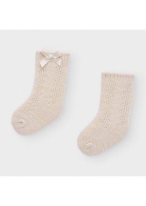 Ponožky zdobené mašličkou