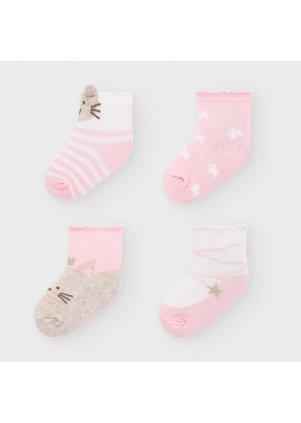 Set ponožek 4 kusy, Blush