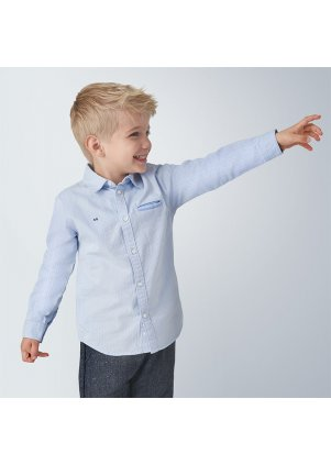 Košile s dlouhým rukávem, Lightblue
