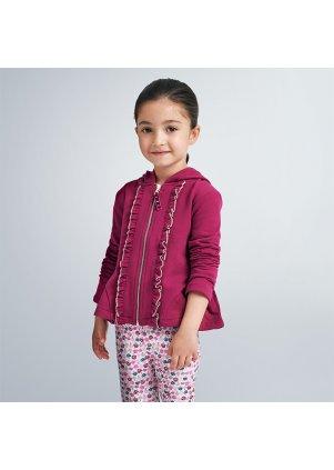 Mikina na zip s kapucí, Cherry