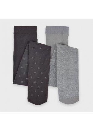 Punčochy set 2 kusy, Gray