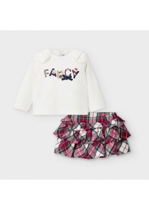 Setík s kostkovanou sukní