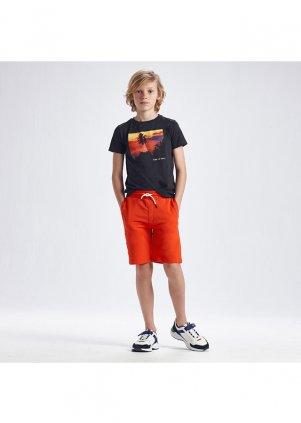 Bavlněné šortky s nápisem na kapsičce, Hibiscus