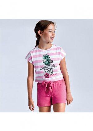 Set s pruhovaným tričkem a šortkami, Camellia
