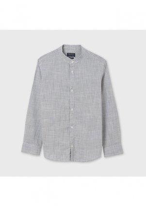Košile s mandarinkovým límečkem, Gray