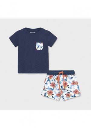 Setík tričko a koupací šortky, blue