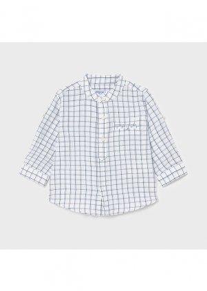 Lněná košile s mandarinkovým límečkem, Nautical