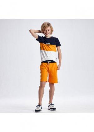 Set tričko a bavlněné kraťasy, Peach