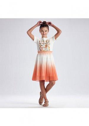 Plisovaná sukně, Peach