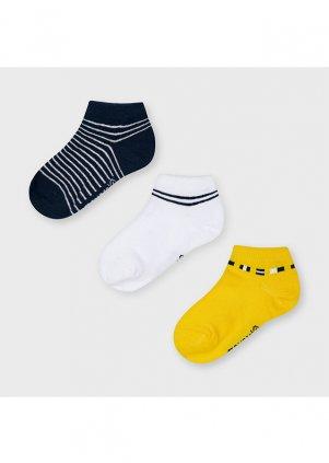 Nízké vzorované ponožky set 3 ks, Yellow