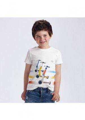 Tričko s koloběžkou, White