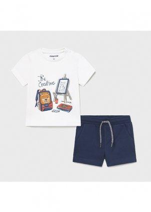 Setík tričko a bavlněné šortky, White
