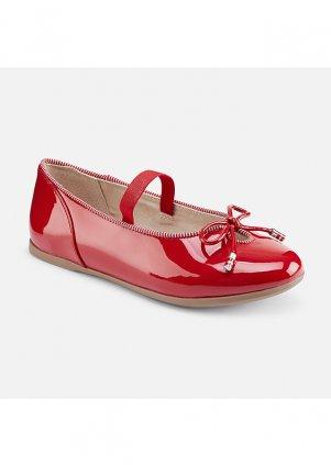 Baleríny zdobené mašlí, Red