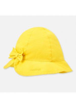 Bavlněný klobouček s mašlí, Yellow