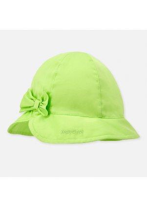 Bavlněný klobouček s mašlí, Pistachio