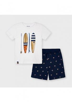 """Bavlněný set """"paddleboard"""", Whit-Navy"""