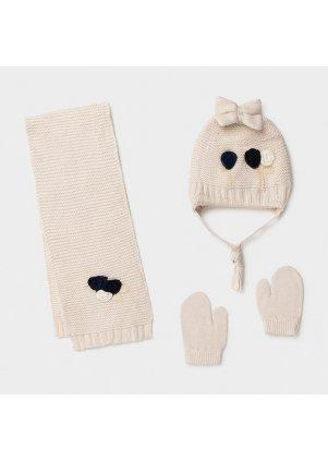 Čepice, rukavice a šála set, Sand