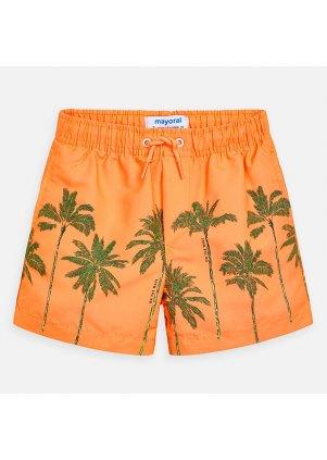 Koupací šortky s palmami, Orange