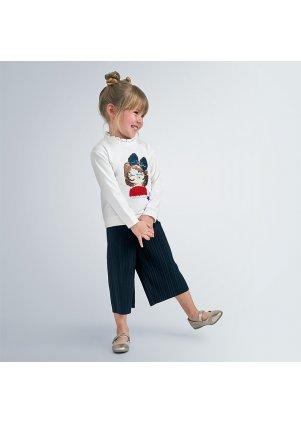 Mikina a plisované 7/8 kalhoty set, Navy