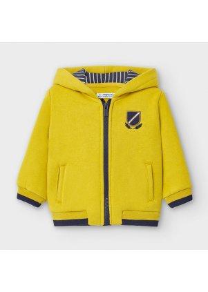 Mikina na zip s kapucí, Olive